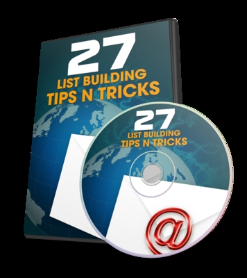Product picture 27 List Building Tips N Tricks With PLR