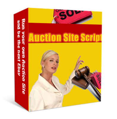 Product picture **NEW** Auction Site Script With Master Resale Rights