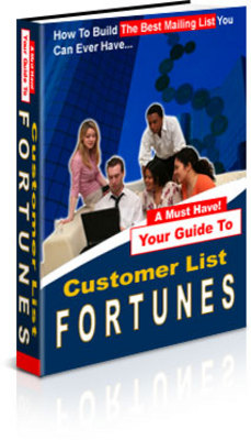 Product picture **NEW** Build Your Customer Mailing List Fortunes  With Master Resale Rights