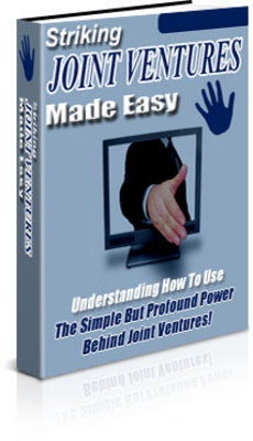 Product picture **NEW** Striking Joint Ventures Made Easy ebook  With Master Resale Rights