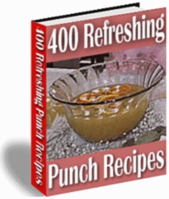 Product picture *NEW* 400 Refreshing Punch Recipes With Master Resale Rights