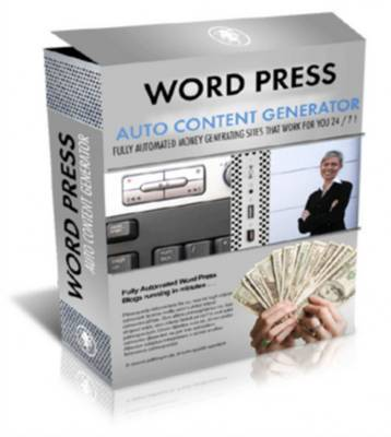 Product picture *NEW* Wordpress Auto Content Generator With Master Resale Rights