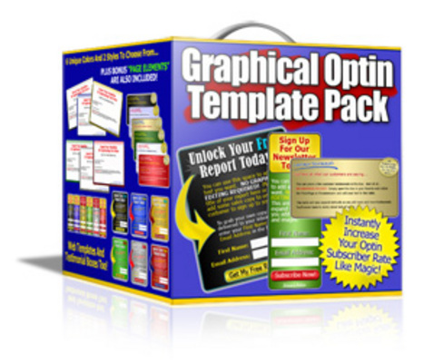 Product picture *NEW* Graphical Optin Template Pack ! Resale Rights included.