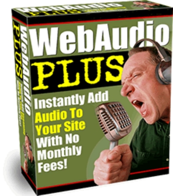 Product picture *NEW* Web Audio Plus  Add Streaming Audio To Your Website With Master Resale Rights