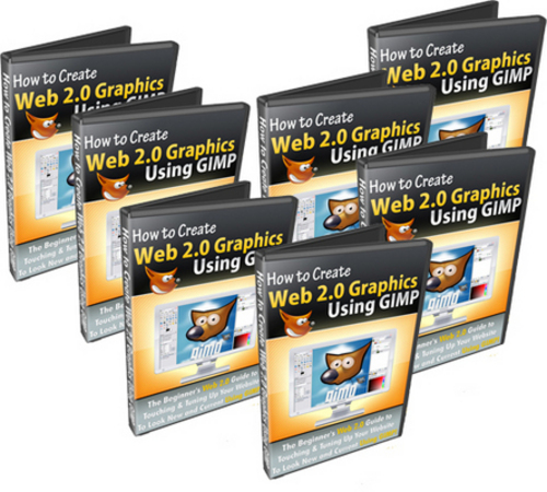Product picture *NEW* How To Create Web 2.0 Graphics Using GIMP  With MRR