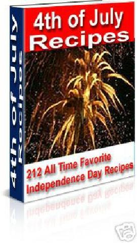 Product picture *NEW* 4th of July Recipes -With Master Resale Rights